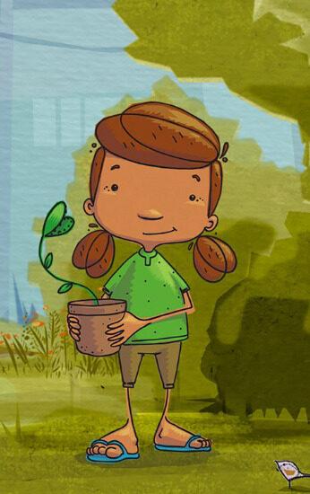 Capa do filme: Miúda e o guarda-chuva