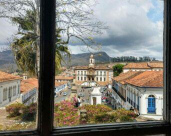 A Praça pela janela da Escola de Minas -  Autor: Antero Sobreira Lima de Sousa