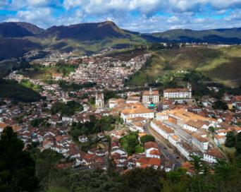 Centro Histórico de Ouro Preto e a Mostra de Cinema de Ouro Preto vistas a partir do Mirante do Morro São Sebastião - Autora: Tatiana Silva