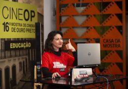 Mediação de debates na 16ª CineOP. Foto: Leo Lara/Divulgação