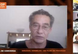 Chico Diaz no debate do filme Girassol Vermelho.Foto: Reprodução YouTube